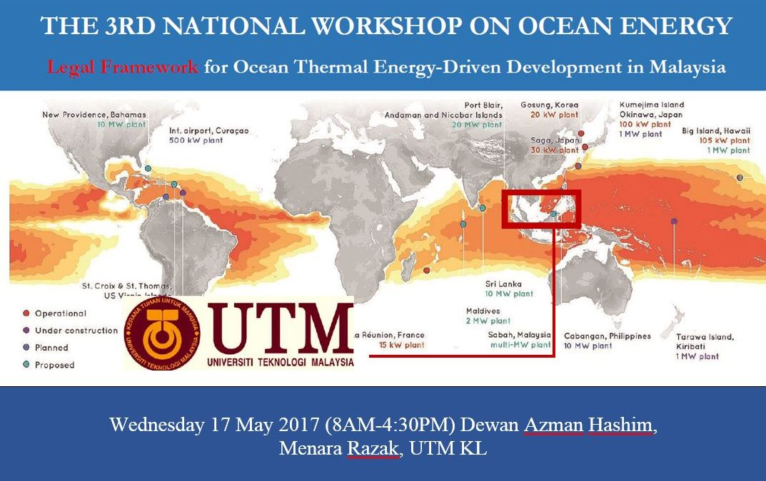 ANNOUNCEMENT CALL FOR PARTICIPATION: 3rd National Workshop on Ocean Energy @17 May 2017