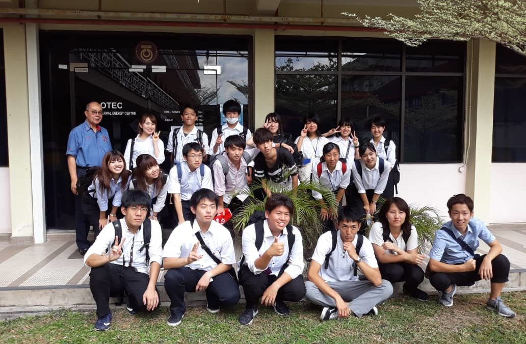 30 August 2018:  Students visit- Okayama and Shinshu University, Japan to UTM OTEC